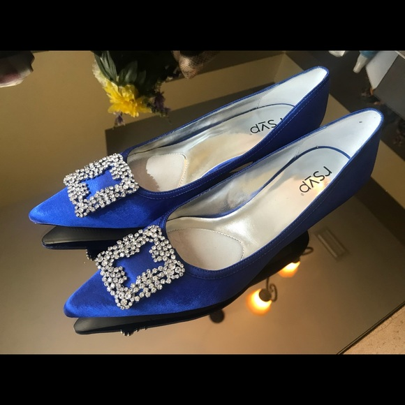 Inspired Royal Blue Kitten Heels | Poshmark